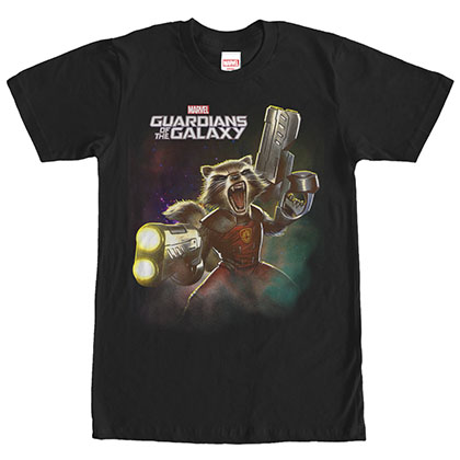 Guardians Of The Galaxy Complex Space Black T-Shirt