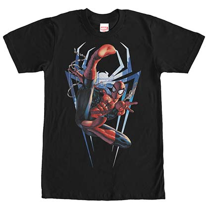 Spiderman Homecoming Kick Black Mens T-Shirt