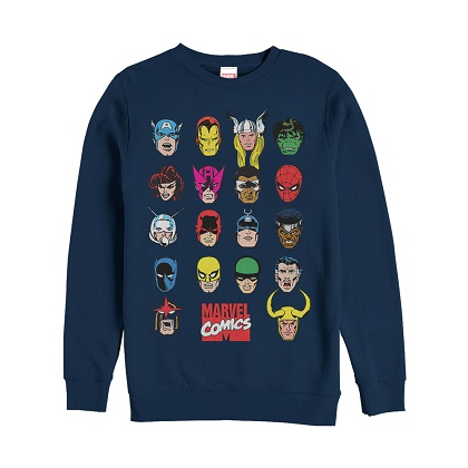 Marvel Comics Superheroes Crewneck