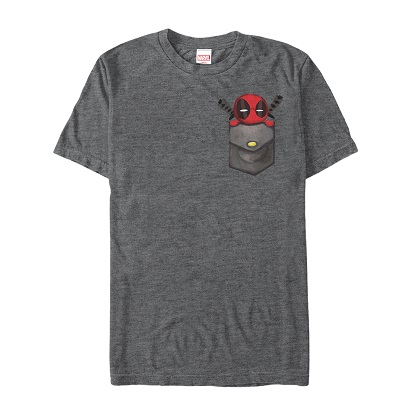 Deadpool Breast Pocket Grey Tshirt