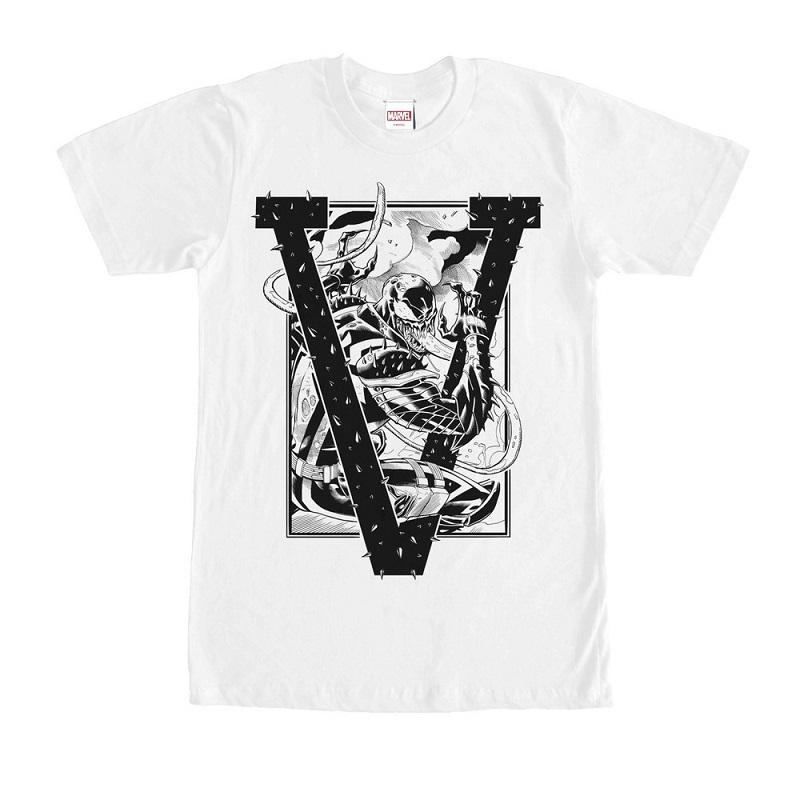 Venom V White Tshirt