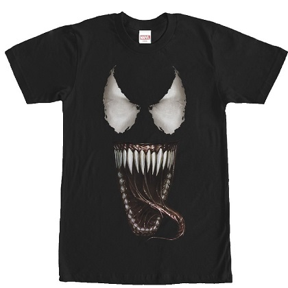 Venom Open Mouth Tongue Tshirt