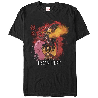 Iron Fist Immortal Black Tshirt