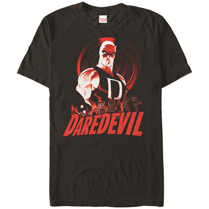 Daredevil Skyline Black Tshirt