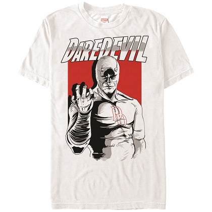Daredevil Clenched Fist White Tshirt