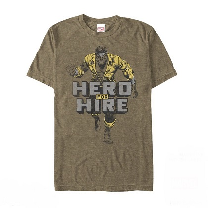 Luke Cage Hero For Hire Brown Tshirt