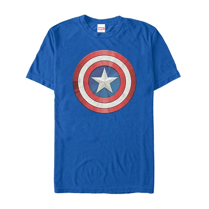 Captain America Shiny Shield Blue Tshirt