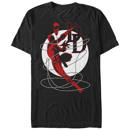 Daredevil Leap Black Tshirt