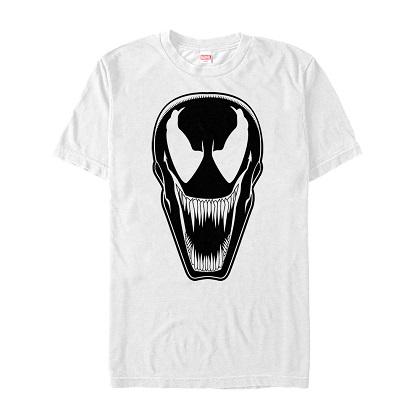 Venom Mask Print White Tshirt