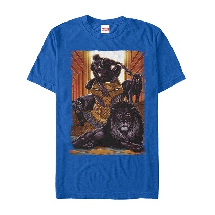 Black Panther King Panther Blue Tshirt