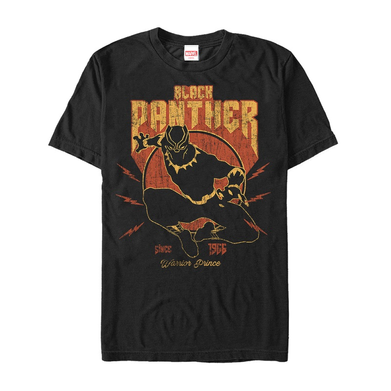 Black Panther Warrior Prince Lightning Tshirt