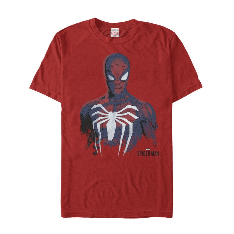 Spiderman Painting Red Tshirt