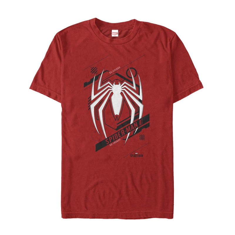 Spiderman Modern Logo Red Tshirt
