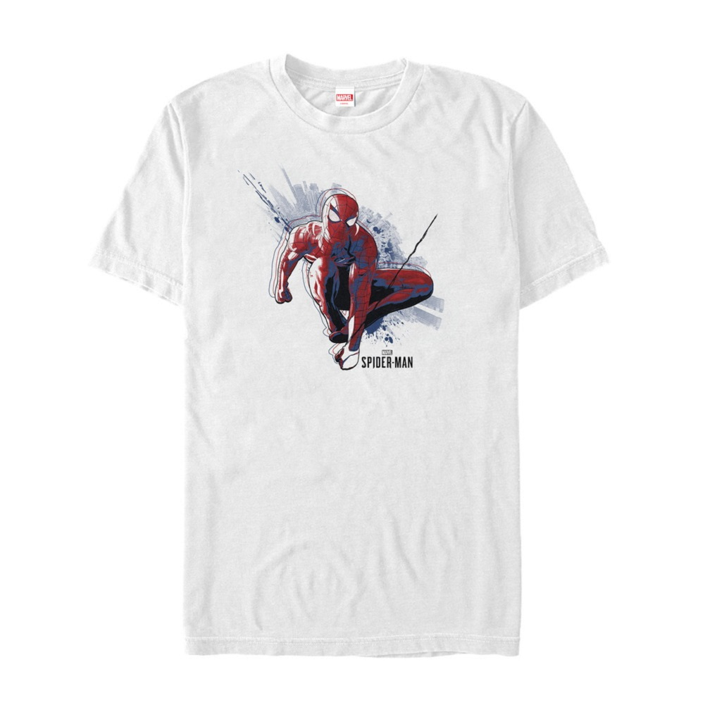 Spiderman Swinging White Tshirt