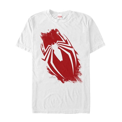 Spiderman Painted Logo White Tshirt