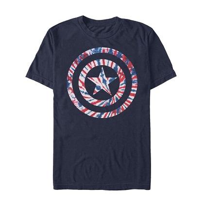 Captain America Tie Dye Logo Tshirt