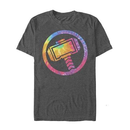 Thor Logo Tie Dye Grey Tshirt