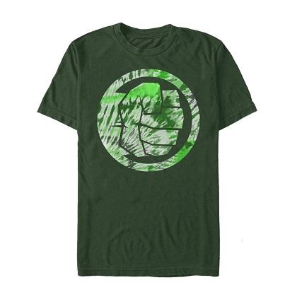 Hulk Logo Tie Dye Green Tshirt