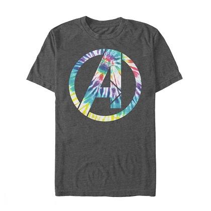 Avengers Logo Tie Dye Grey Tshirt
