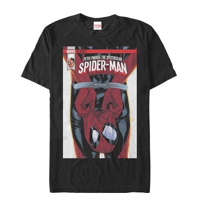 Spiderman Unmasked Comic Tshirt