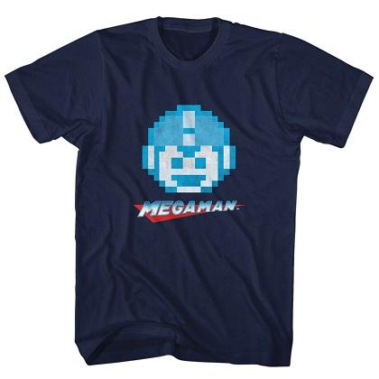 Mega Man Pixel Face Tshirt