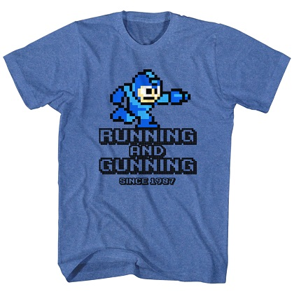 Mega Man Running and Gunning Tshirt