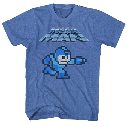 Mega Man Classic Blue Tshirt