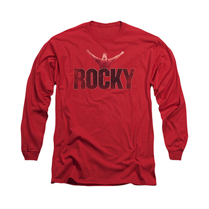 Rocky Victory Distressed Red Long Sleeve T-Shirt