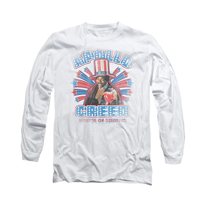 Rocky Apollo Creed White Long Sleeve T-Shirt