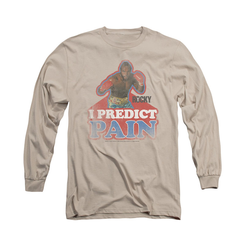 754f5779b3f2 item was added to your cart. Item. Price. Rocky Predict Pain Beige Long  Sleeve T-Shirt