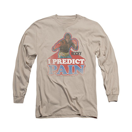 Rocky Predict Pain Beige Long Sleeve T-Shirt