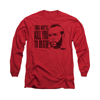 Rocky Kill You To Death Red Long Sleeve T-Shirt