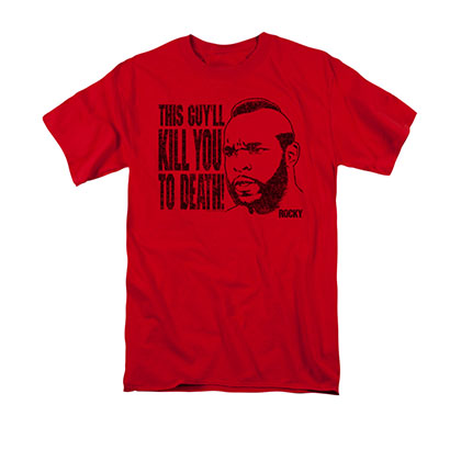 Rocky Men's Red Mr. T Kill You To Death Tee Shirt