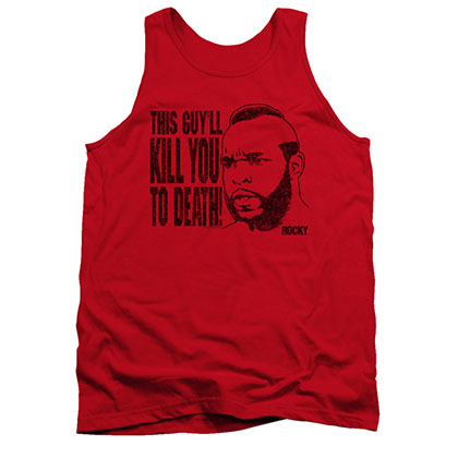 Rocky Men's Red Mr. T Kill You To Death Tank Top