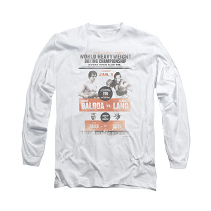 Rocky Vs. Clubber White Long Sleeve T-Shirt