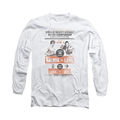 Rocky Vs. Clubber White Long Sleeve T-Shirt