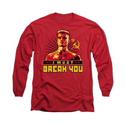 Rocky I Must Break You Red Long Sleeve T-Shirt