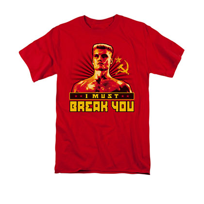 Rocky Men's Red Ivan I Must Break You Tee Shirt