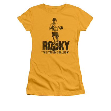 Rocky Juniors Yellow Italian Stallion Yellow Tee Shirt