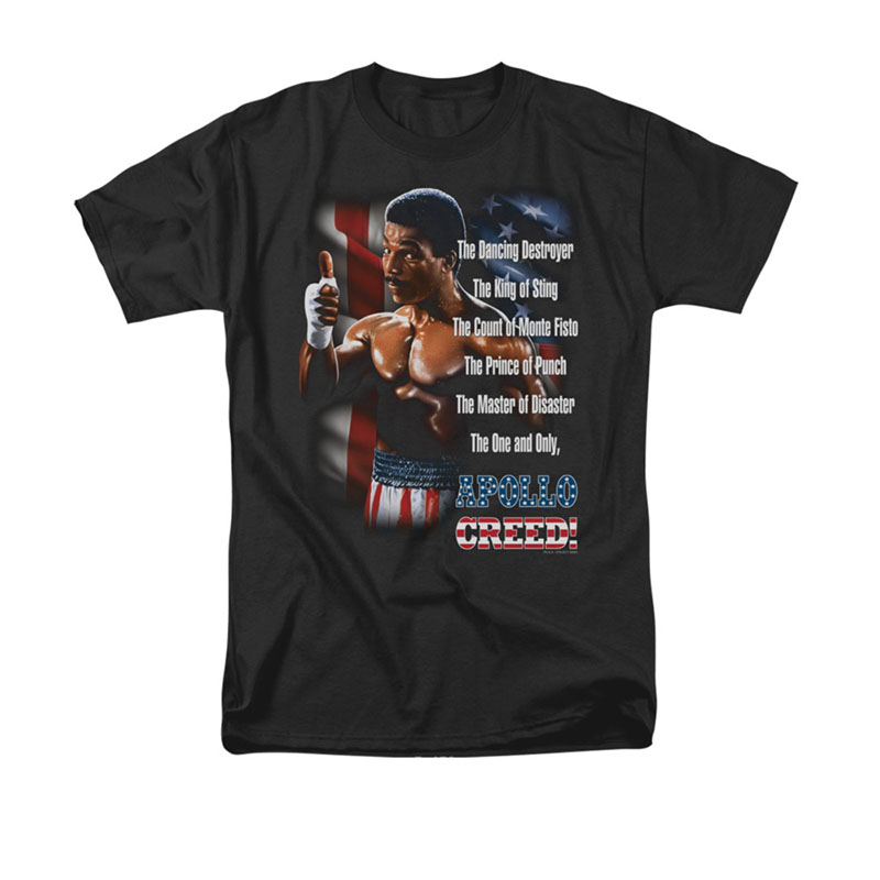 Rocky II The One And Only Apollo Black T-Shirt