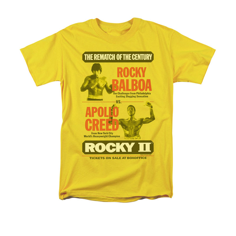 Rocky Apollo Rematch Poster Yellow T-Shirt