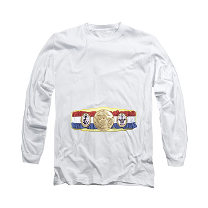 Rocky Championship Belt White Long Sleeve T-Shirt