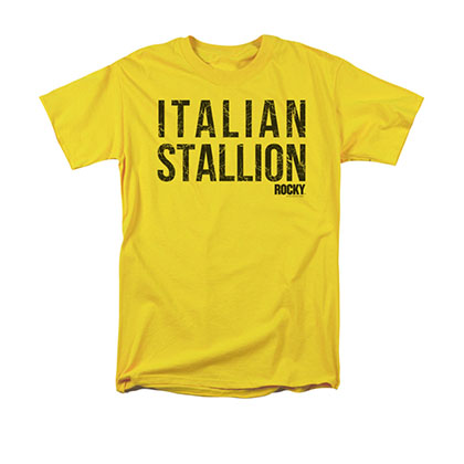 Rocky Men's Yellow Italian Stallion Tee Shirt