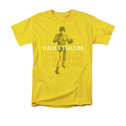 Rocky Men's Yellow Italian Stallion Swag Tee Shirt