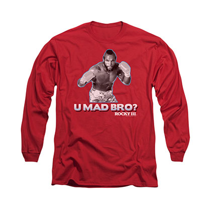 Rocky You Mad Bro Red Long Sleeve T-Shirt