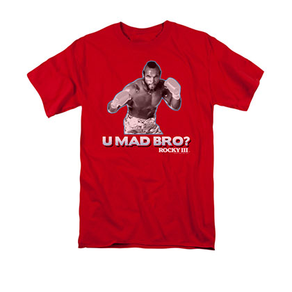 Rocky Men's Red Mr. T You Mad Bro Red Tee Shirt