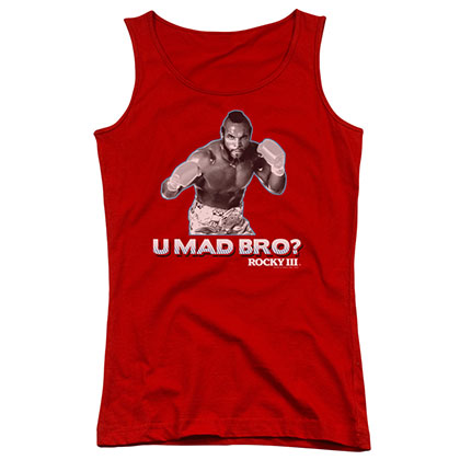 Rocky Clubber You Mad Bro Red Juniors Tank Top