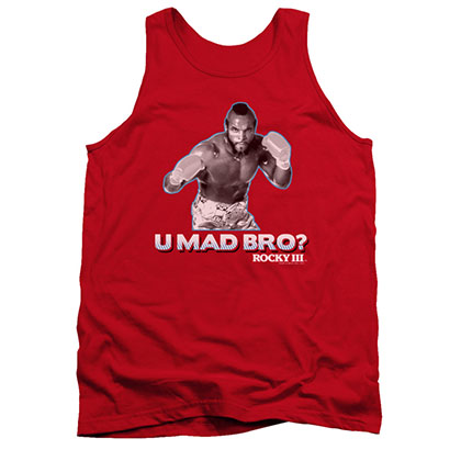 Rocky Clubber U Mad Bro Red Tank Top