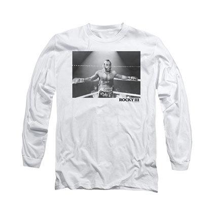 Rocky Clubber Photo White Long Sleeve T-Shirt