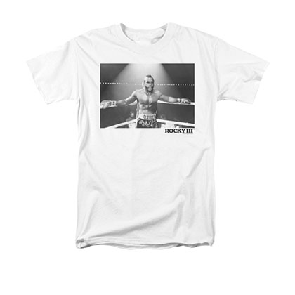 Rocky Men's White Mr. T Clubber Lang Photo Tee Shirt